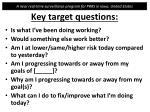key target questions1