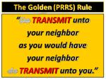 the golden prrs rule