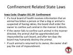 confinement related state laws
