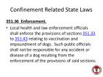 confinement related state laws1