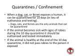 quarantines confinement