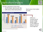 agriculture impacts