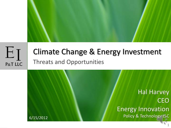 climate change energy investment n.
