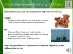 increasing resource scarcity and cost