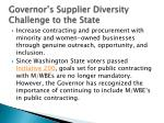 governor s supplier diversity challenge to the state