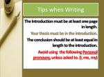 tips when writing2
