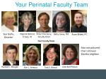 your perinatal faculty team