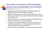 the timing of issuance of the proposed decision and consideration by the board