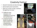 creativity festival