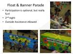 float banner parade