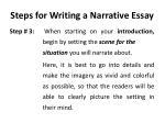 steps for writing a narrative essay1