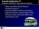 example application 1 oakland park blvd alternatives analysis