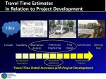 travel time estimates in relation to project development1