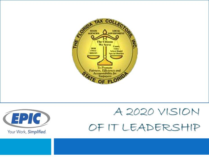 a 2020 vision of it leadership n.