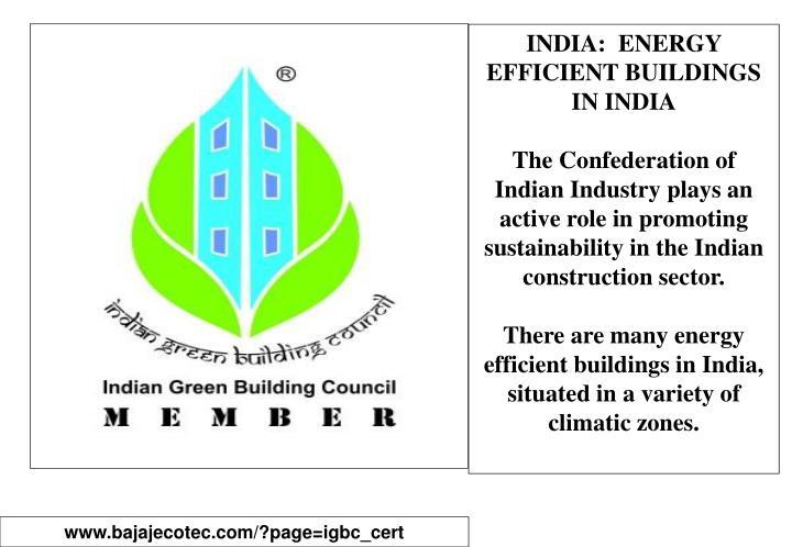INDIA:  ENERGY EFFICIENT BUILDINGS IN INDIA