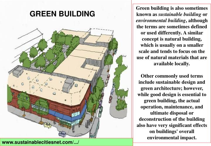 Green building is also sometimes known as