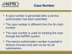 case number