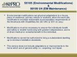 s5165 environmental modifications 99199 u4 em maintenance