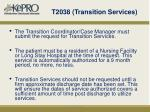 t2038 transition services