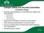 campus safety and security committee committee charge