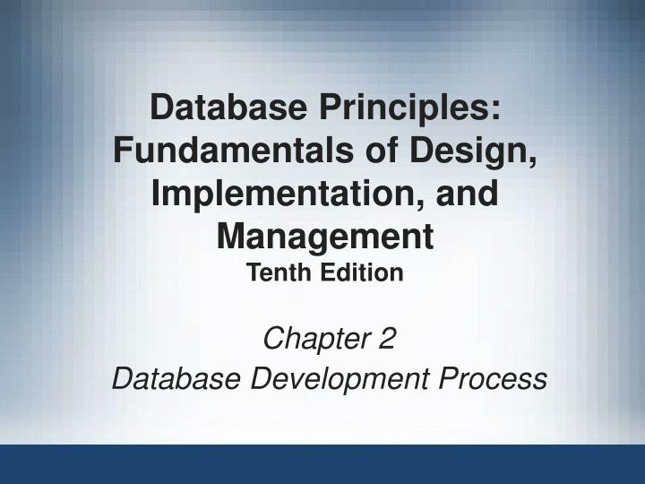 chapter 2 database development process n.