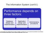 the information system cont d2