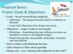 proposal basics project goals objectives