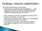 findings industry stakeholders1