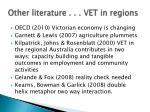 other literature vet in regions
