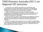 tafe directors australia 2011 on regional vet provision