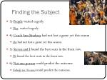 finding the subject6