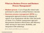 what are business process and business process management
