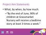 project aim statements