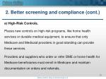 2 better screening and compliance cont4