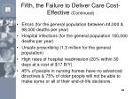 fifth the failure to deliver care cost effective continued