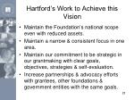 hartford s work to achieve this vision