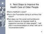 ii next steps to improve the health care of older people