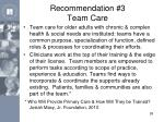 recommendation 3 team care
