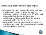 intellectual merit and broader impact