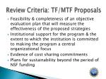 review criteria tf mtf proposals2