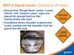 mot signal issues signing for all users