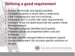 defining a good requirement