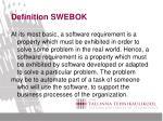 definition swebok