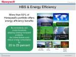 hbs energy efficiency