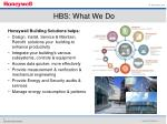 hbs what we do