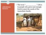 subsistence farmers