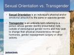 sexual orientation vs transgender