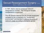 sexual reassignment surgery cont goins v west group minn 20001