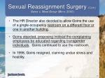 sexual reassignment surgery cont goins v west group minn 20002