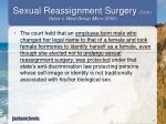 sexual reassignment surgery cont goins v west group minn 20003